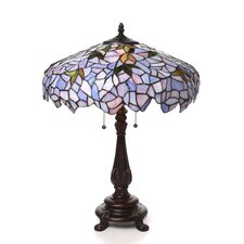 """Tiffany Wisteria 24"""" H Table Lamp with Bowl Shade"""
