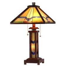 """25.6"""" H Table Lamp with Empire Shade"""