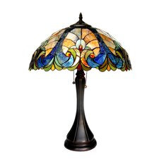 "Amor 21.3"" H Table Lamp with Bowl Shade"