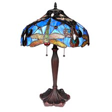 "Dragonfly 24"" H Table Lamp with Bowl Shade"