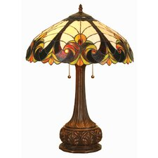 """Tiffany Victorian 24"""" H Table Lamp with Bowl Shade"""