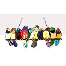 Gathering Birds Window Panel