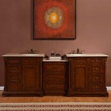 "92.5"" Double Lavatory Sink Cabinet Bathroom Vanity Set"