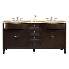 "Kelston 72"" Double Bathroom Vanity Set"