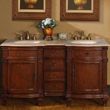 "Blair 60"" Double Bathroom Vanity Set"