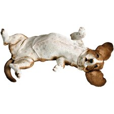 Mid Size Playful Basset Hound Sculpture