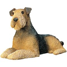 Mid Size Sculptures Airedale Terrier Figurine