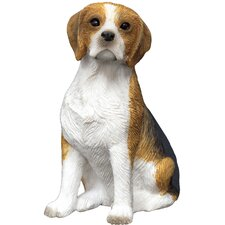 Small Size Sculptures Sitting Beagle Figurine