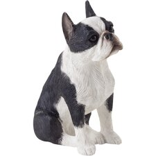 Small Size Sculptures Boston Terrier Figurine