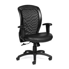 Luxhide Mesh Ergonomic Chair with Arms