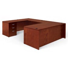Ventnor Rectangular U-Shaped Executive Desk