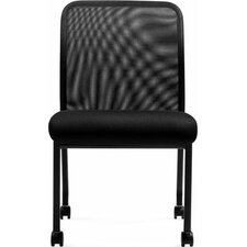 Armless Mesh Back Guest Chair
