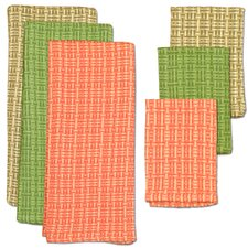 6 Piece Palm Paradise Heavyweight Dish Towel & Dish Cloth Set