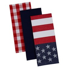 Patriotism 3 piece Dishtowel Set (Set of 3)