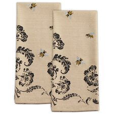 Busy Bees Embroidered Dishtowel Set (Set of 2)