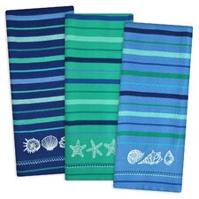 3 Piece Sea Embroidered Dishtowel Set