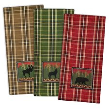 3 Piece Wilderness Embroidered Dishtowel Set
