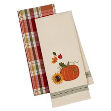 2 Piece Harvest Pumpkin Dishtowel Set
