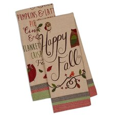 2 Piece Fall Printed Dishtowel Set
