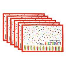 Birthday Print Placemat (Set of 6)