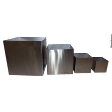 4 Piece Square Planter Box Set