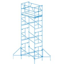 """Homebuilder 1.58' H x 102"""" W x 72"""" D Scaffold Tower with 375 lb. Load Capacity Type 2A Duty Rating"""