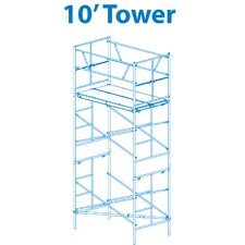 """Homebuilder 1.17' H x 72"""" W x 42"""" D Steel Scaffold Tower with 375 lb. Load Capacity Type 2A Duty Rating"""