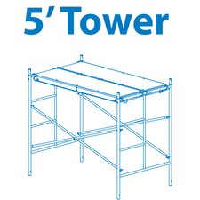 "Homebuilder 0.42' H x 72"" W x 42"" D Steel Scaffold Tower with 375 lb. Load Capacity Type 2A Duty Rating"