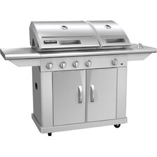 "65.7"" 6500 Series LP Gas Grill with Split Lid"