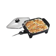 "16.3"" Non-Stick Skillet with Lid"