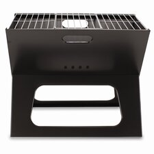 X Compact Folding Portable Charcoal BBQ Grill