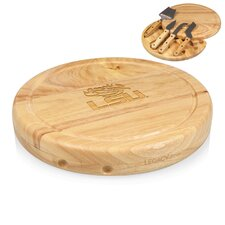 NCAA Circo Engraved Circulor Cutting Cheese Tray