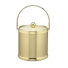 Ice Bucket with Bale Handle and Metal Cover