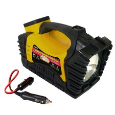 Cordless Spotlight Air Compressor with LED & Auto Jumpstarter