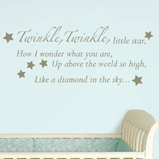 Baby Baby Twinkle, Twinkle Wishes Wall Decal