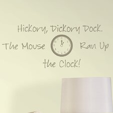Baby Hickory Dickory Dock Nursery Rhyme Wall Decal