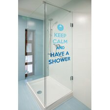Home Decor Line Keep Calm and Shower Quote Window Sticker