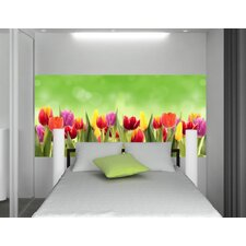 Home Decor Line Flowers Wall Mural