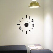 Contemporary Clock Wall Decal