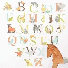 Wall Art Kit Alphabet Zoo Wall Decal