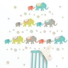Art Kit Tag Along Elephants Wall Decal