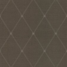 "Joseph Abboud Designed 33' x 20.5"" Geometric Embossed Wallpaper"