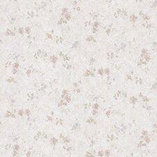"""Satin Rose 33' x 20.5"""" Tonal Floral Embossed Wallpaper"""