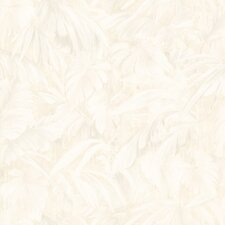 """Kitchen and Bath Resource II Leaf 33' x 20.5"""" Floral Embossed Wallpaper"""