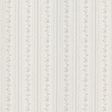 """Kitchen and Bath Resource II 33' x 20.5"""" Floral Stripe Embossed Wallpaper"""