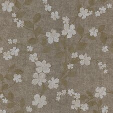 """Kitchen and Bath Resource II 33' x 20.5"""" Floral Embossed Wallpaper"""