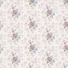 """Satin Rose 33' x 20.5"""" Monotone Rose Floral Embossed Wallpaper"""