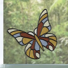 Butterfly Stained Appliqué Window Sticker