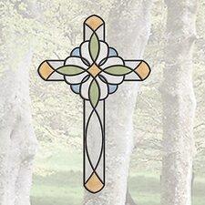 Window Decor Peel and Stick Cross Window Sticker