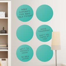 WallPops Dry-Erase Dot Whiteboard Wall Decal (Set of 6)